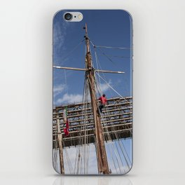 Sailor on the rigging Tall Ship Maritime Festival Drogheda, Ireland iPhone Skin