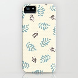 Falling Leaves – Blue & Brown iPhone Case