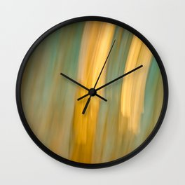 Ancient Gold and Turquoise Texture Wall Clock