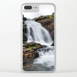 Summer landscape - beautiful mountain waterfall Clear iPhone Case