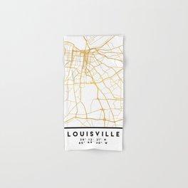 LOUISVILLE KENTUCKY CITY STREET MAP ART Hand & Bath Towel