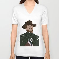 clint eastwood V-neck T-shirts featuring Clint Eastwood by  Steve Wade ( Swade)