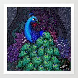Peacock Watcher Art Print
