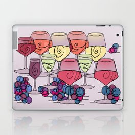 Wine and Grapes v2 Laptop & iPad Skin