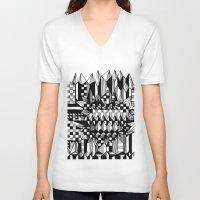 geo V-neck T-shirts featuring Geo by Eva Bellanger