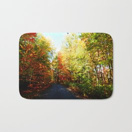 Into the Fall Forest Bath Mat