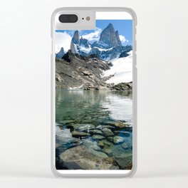 Fitz Roy Shoreline Clear iPhone Case