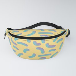 Memphis Style Yellow 3D Confetti Fanny Pack