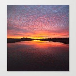Scott Creek Sunset Panorama 03 Canvas Print