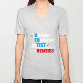 Dentist Doctor Surgery Teeth Unisex V-Neck