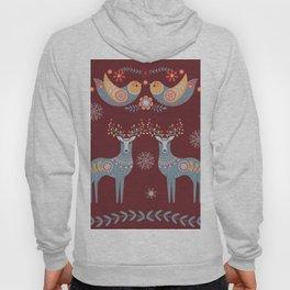 Nordic Winter Red Hoody