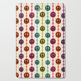 Peace Signs Hippie Beaded Curtain Cutting Board