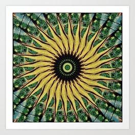 Yellow Twirl Art Print