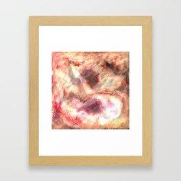 Gold Nebulae Framed Art Print