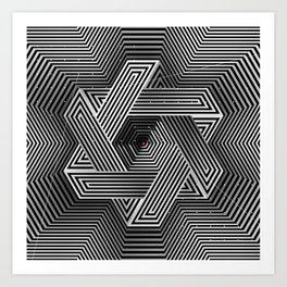 Cube-shuttle Art Print