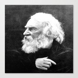 Julia Margaret Cameron - Portrait of Longfellow Canvas Print