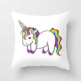 Unicorn Plushie Throw Pillow