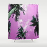 palm trees Shower Curtains featuring Palm trees by Nicklas Gustafsson
