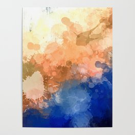 """Modern Contemporary """" Tranquility""""Abstract Poster"""