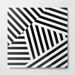 Black white block work Metal Print