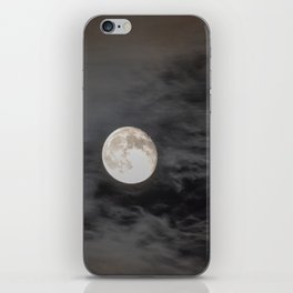 Waning moon and clouds with Saturn iPhone Skin