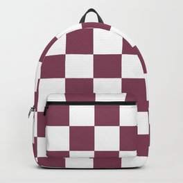 Purple, Mulberry: Checkered Pattern Backpack