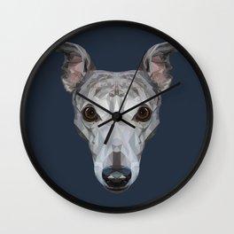 Whippet // Navy Wall Clock