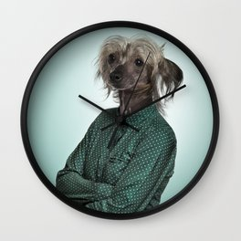 Chinese hairless crested dog Wall Clock