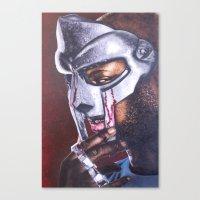 mf doom Canvas Prints featuring MF DOOM by Ray Mandal