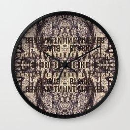 Black Int Marker Wall Clock