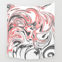 Black, Red, and Gray Design Wall Tapestry