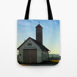 Old traditional firehouse   architectural photography Tote Bag