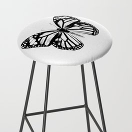 Monarch Butterfly | Black and White Bar Stool