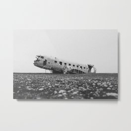 SOLHEIMASANDUR PLANE WRECK / Iceland Metal Print