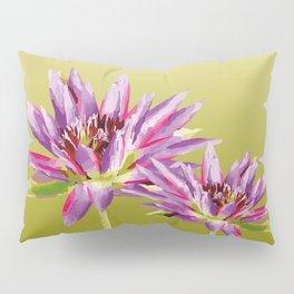 Water Lilies violet green Pillow Sham