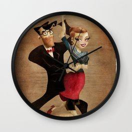 saul & annie Wall Clock