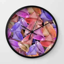 Placer precious stones gems . Wall Clock