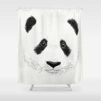panda Shower Curtains featuring PANDA by Laure.B