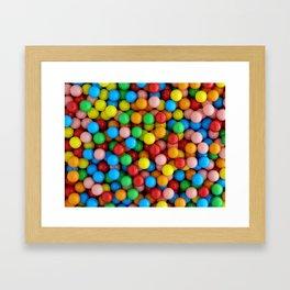 Fun Rainbow Candy Framed Art Print