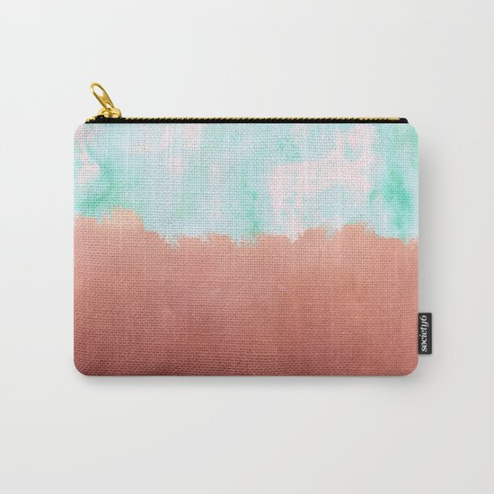 Sea Green + Copper #society6 #decor #buyart Carry-All Pouch