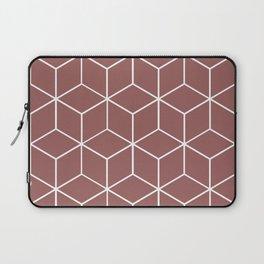 Cube Geometric 03 Dark Pink Laptop Sleeve