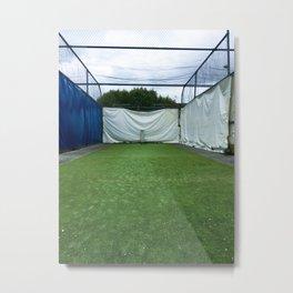 Outdoor Cricket Nets Metal Print