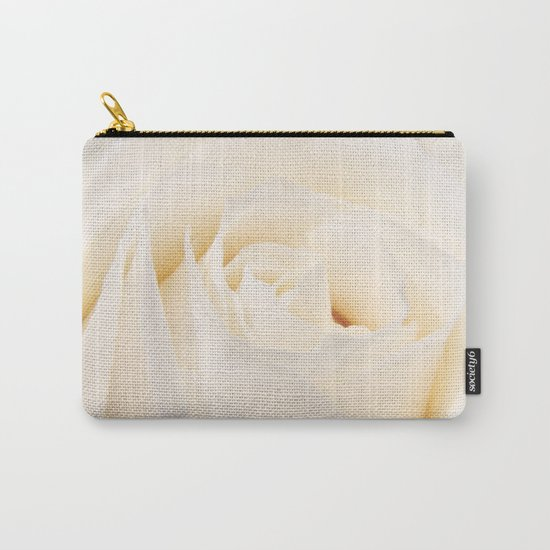 White Winterrose - Rose- Roses Carry-All Pouch