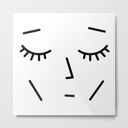 Face Sleep Metal Print
