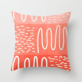 Graphic 879 // Coral Snake River Throw Pillow