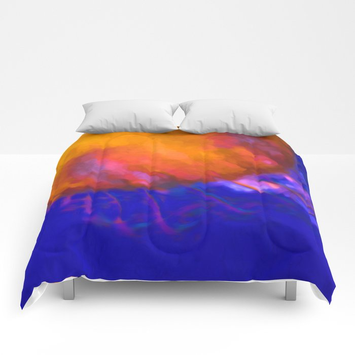 Orange Jellyfish Ocean Art  Comforters