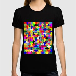 Jigsaw Pieces In Colour T-shirt