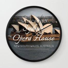Sydney Opera House, Australia Wall Clock