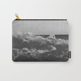 Black & White Sea Waves Photography Art Print Carry-All Pouch