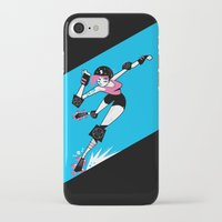 roller derby iPhone & iPod Cases featuring Roller Derby!!! by Martin Gee